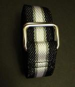 Club Monaco Black Nylon Webbing Belt