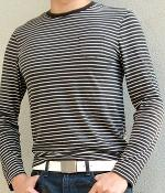 Club Monaco Black Striped T-Shirt