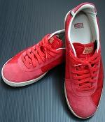 Cole Haan Red Canvas Oxford Shoes