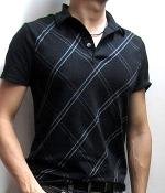 Express Black Argyle Polo Shirt