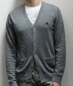 Express Gray V-Neck Pocket Cardigan