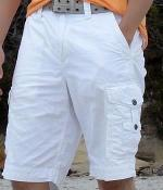 Express White Belted Cargo Shorts