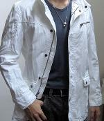 Fashionable White Casual Zip Button Jacket