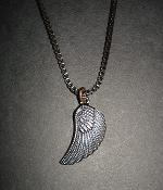 G By Guess Bronze Eagle Wing Pendant Necklace