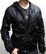 H&M Black Lightweight Zip Hooded Jacket