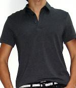 H&M Dark Grey Cotton Stretch Polo Shirt