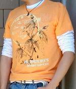 H&M Orange Graphic Tee