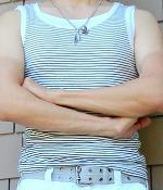H&M White Black Striped Tank Vest