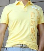 H&M Yellow Graphic Polo