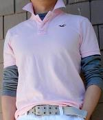 Hollister Pink Polo Shirt