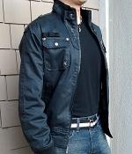 Marc Ecko Cut & Sew Black Bobber Jacket