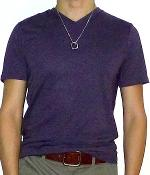 Mossimo Purple V-neck Short Sleeve T-shirt