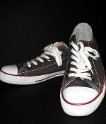 True Religion Charcoal Canvas Shoes