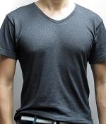 Uniqlo Black Marled V-Neck T-Shirt