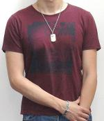 Uniqlo Dark Red Crew Neck Short Sleeve Graphic T-shirt