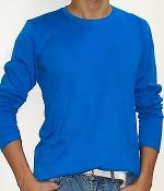 Uniqlo Royal Blue Crew Neck Long Sleeve T-Shirt