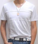 Uniqlo White Short Sleeve V-Neck T-Shirt