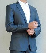 Zara Dark Grey Silk Suit Jacket