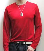 Zara Red Crew Neck Long Sleeve T-Shirt