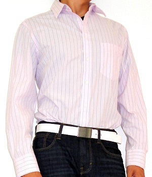 Merona Pink Striped Shirt