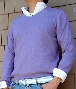 Men's Merona Purple V-Neck Sweater
