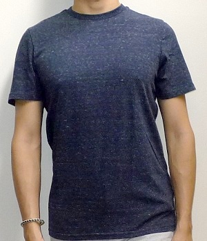 Mossimo Dark Blue Crew Neck Short Sleeve T-Shirt