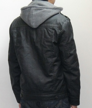 Men's NET Black Military Zip Hoodie Jacket