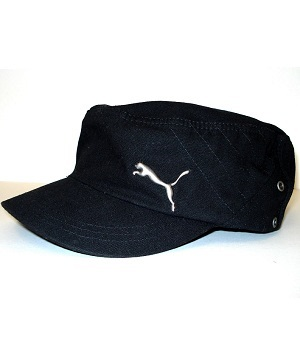 Men's Puma Black Military Square Hat