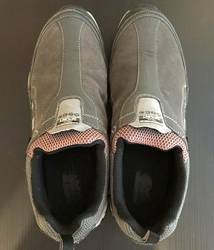 Men's Skechers Gray Leather Slip-On Shoes