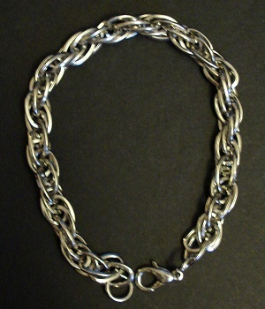 Sterling Silver Link Chain Charm Bracelet