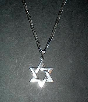 Men's Sterling Silver Star Pendant Necklace