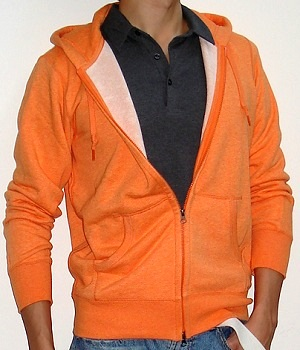 Men's Uniqlo Orange Zip Hoodie