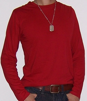 Men's Uniqlo Red Long Sleeve T-Shirt