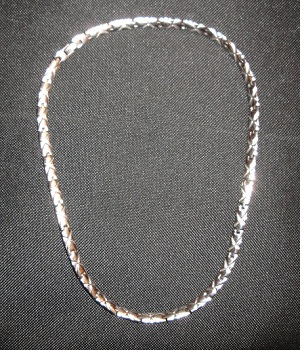 Wide Silver Chain Necklace