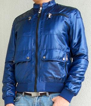 Men's Zara Dark Blue Polyester Nylon Jacket