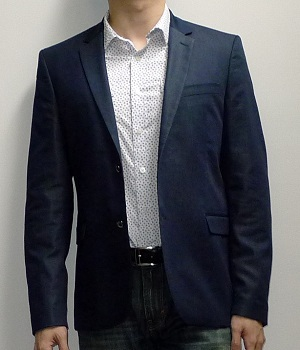 Zara Dark Blue Two Button Blazer