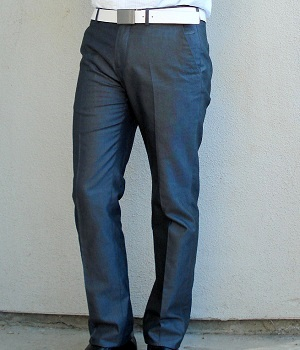 Men's Zara Dark Grey Silk Dress Pants