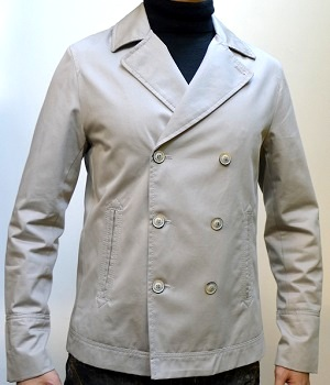 Men's Zara Khaki Double Breasted Six Button Blazer Trench Coat