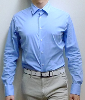 Men's Zara Light Blue Button Down Dress Shirt