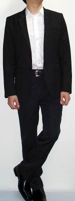 Black Blazer Black Pants White Shirt Black Belt Black Shoes