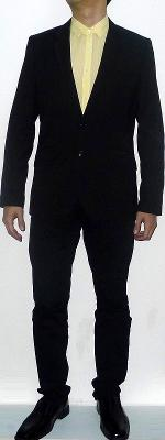 Black Suit Jacket Yellow Dress Shirt Black Belt Black Suit Pants Black Leather Shoes