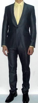 Dark Gray Suit Jacket Yellow Dress Shirt Dark Gray Dress Pants Black Dress Shoes