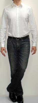 White Dress Shirt Dark Blue Jeans Black Dress Shoes Black Leather Belt