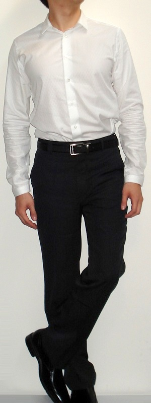 black pants white shirt - Pi Pants